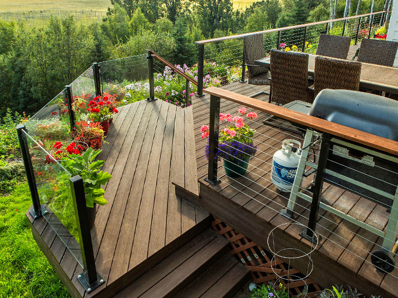 Cable Rail Treeline Decking